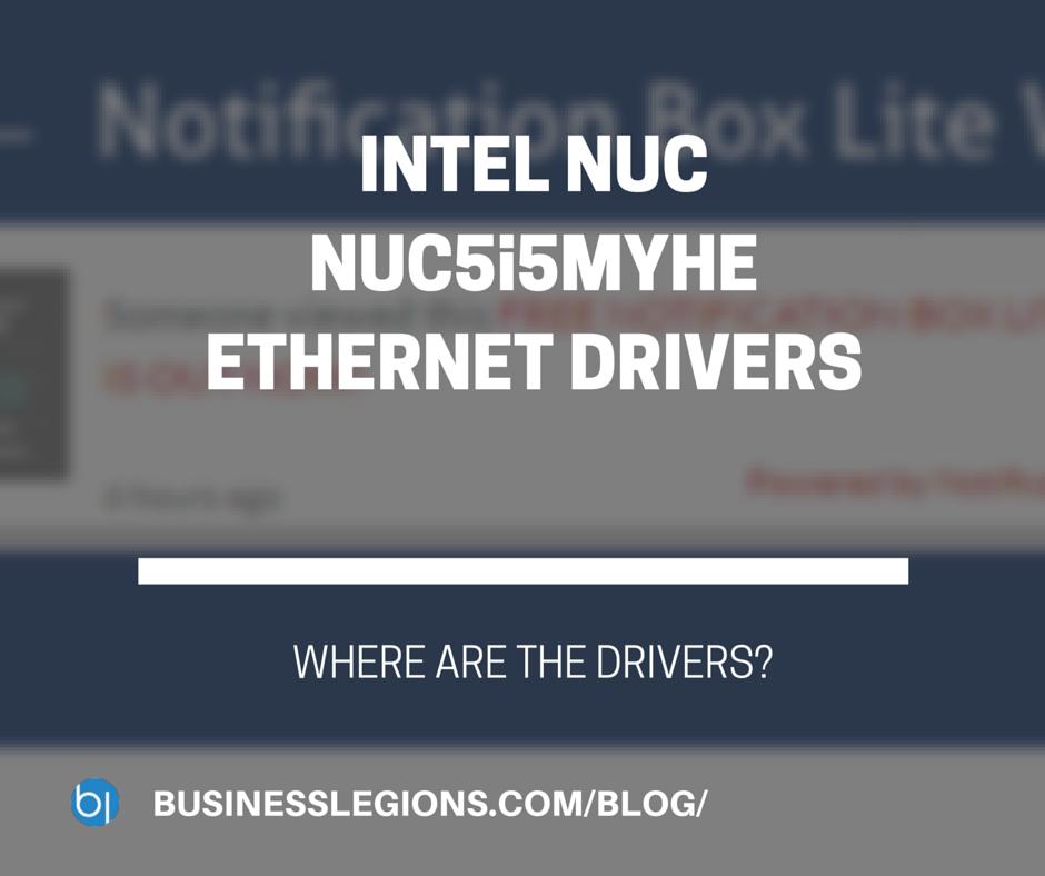 INTEL NUC NUC5i5MYHE ETHERNET DRIVERS