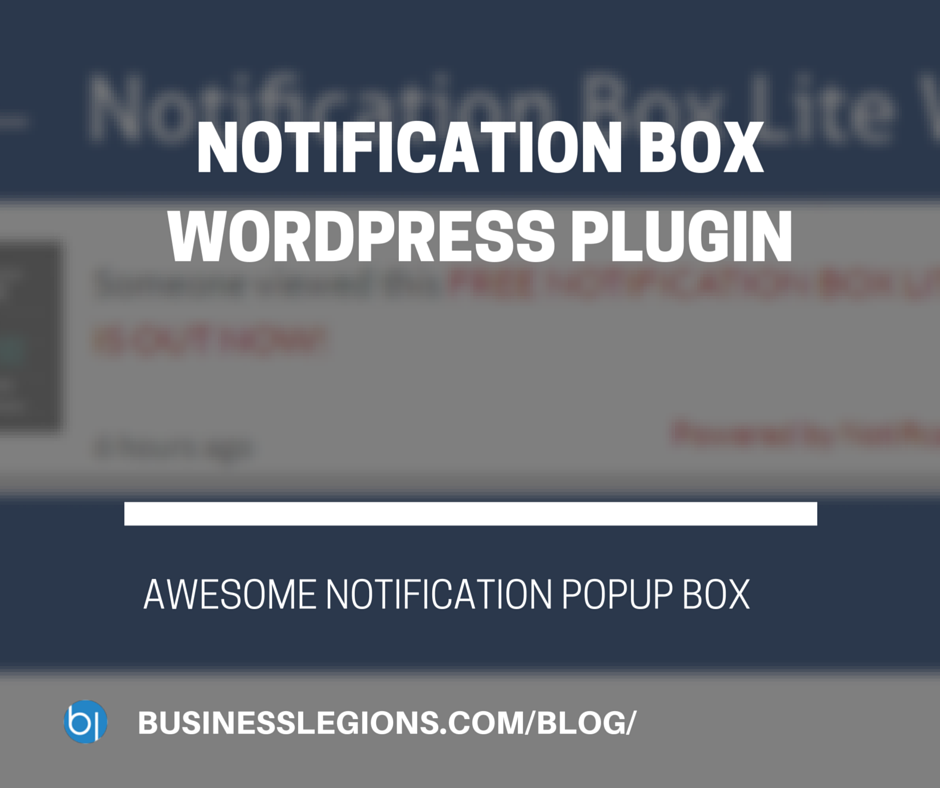 NOTIFICATION BOX WORDPRESS PLUGIN