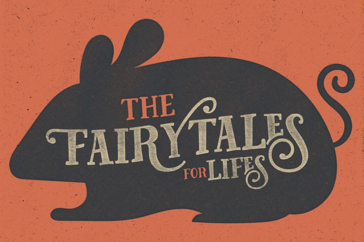 Tell Your Story with the Fairy Tales Font + Bonus Vector Animal Set – only $6!