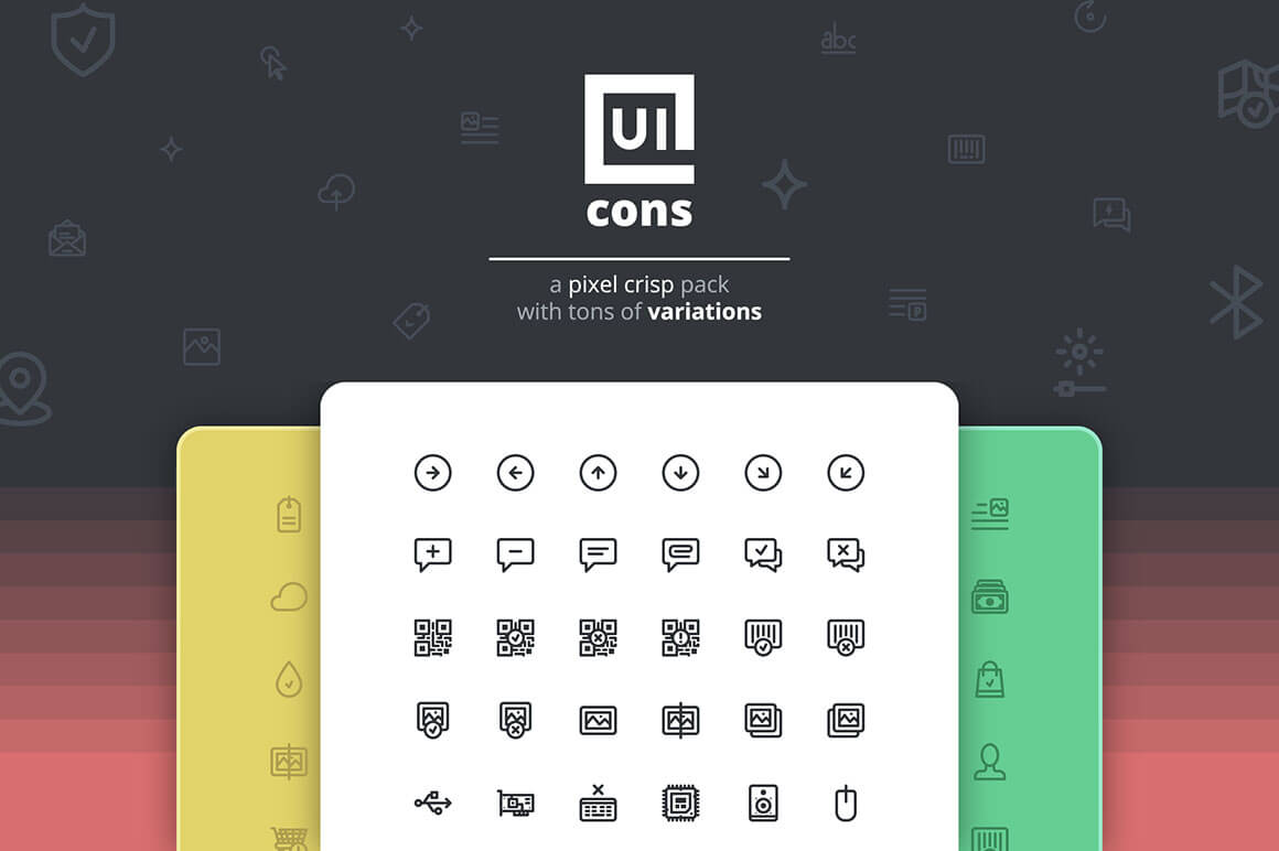 UICons: Get 1400+Pixel Crisp Vector Icons (line and filled) – only $15!