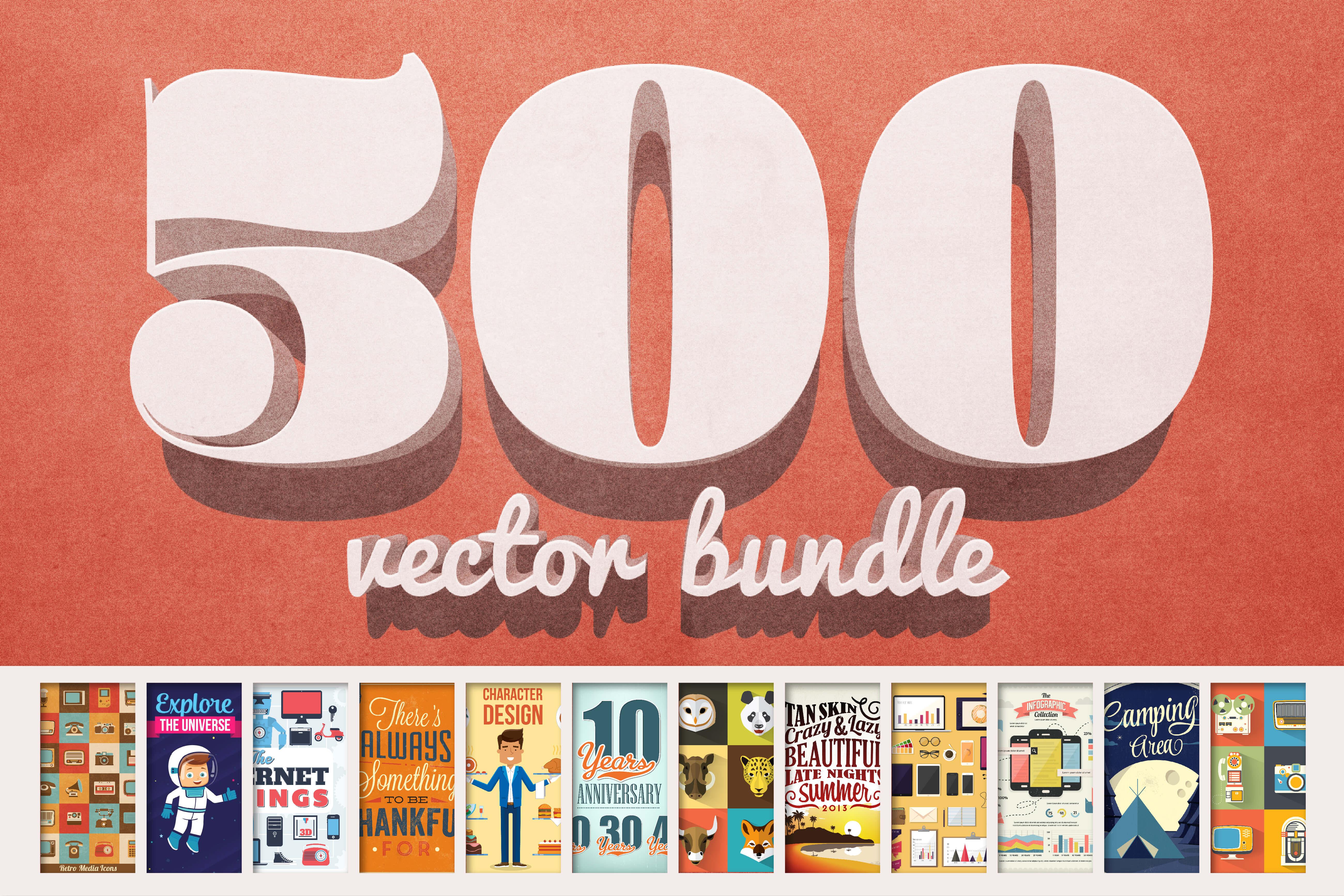 Vectorlicious Bundle: $2,500 Worth of Premium Quality Vectors – only $24!