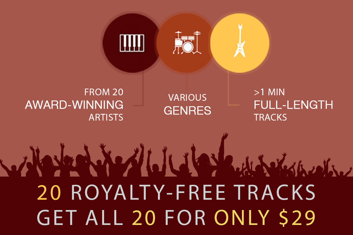 20 Royalty-Free Inspirational Music Tracks – only $29!