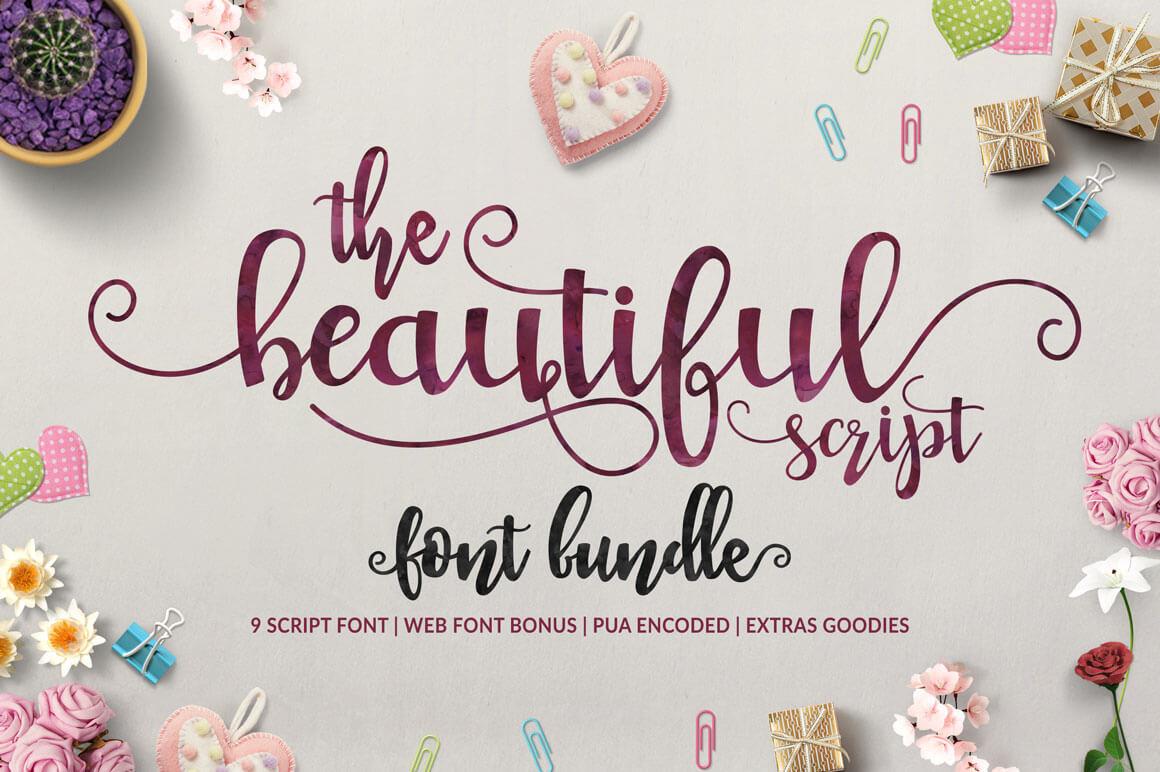 9 Beautiful Handwritten Modern Script Fonts – only $17!