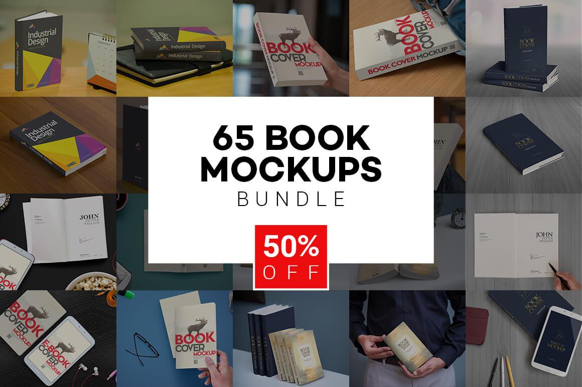 65 Hi-Res Book Mockups from Zippy Pixels – only $14!