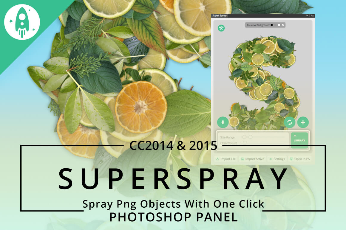 SuperSpray – One of A Kind Image Spray Add-On for Photoshop – only $9!