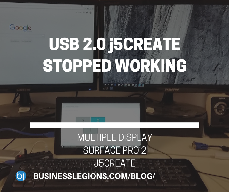 USB 2.0 j5CREATE STOPPED WORKING