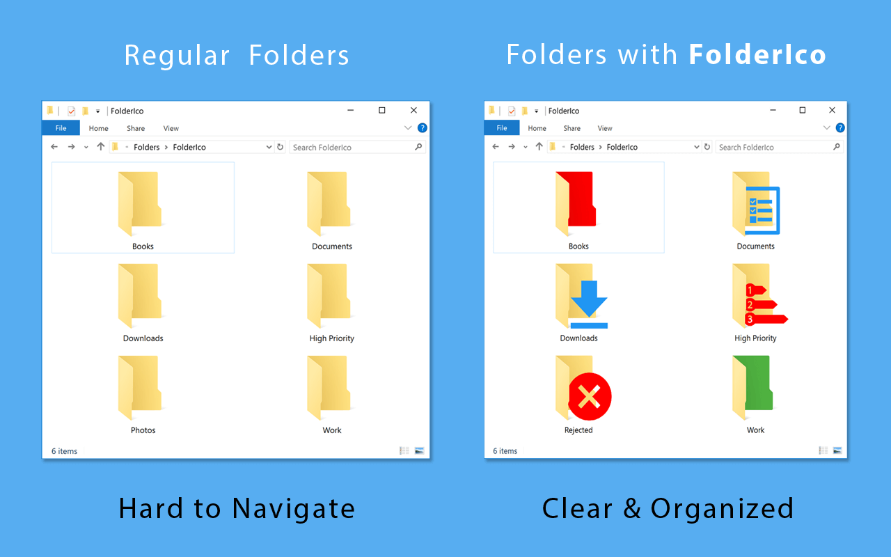 Customize Windows Folder Colors and Icons in One Click with FolderIco – only $9.97!