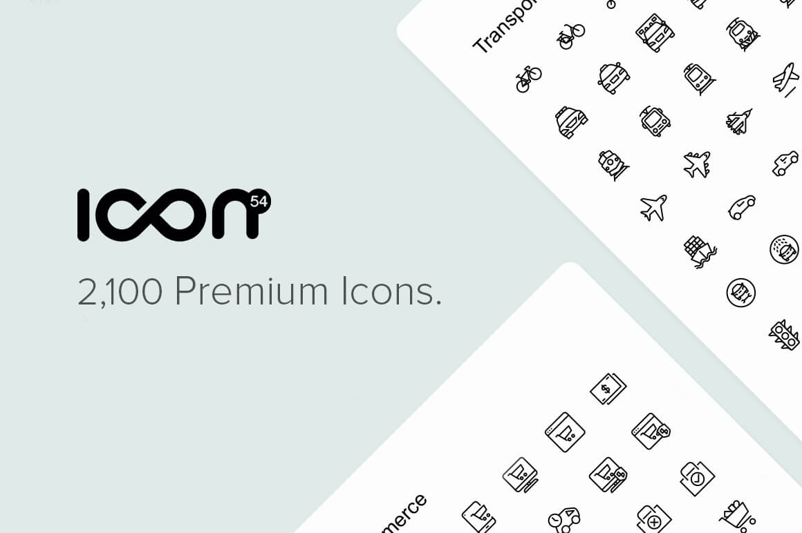 The Icon54 Collection of 2,100 Perfect Icons in 49 Unique Categories – $19!