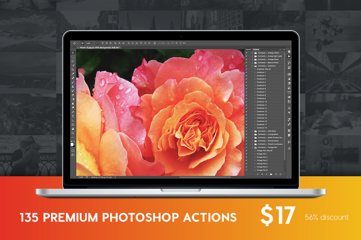 135 Professional Photoshop Actions from Contrastly – only $17!