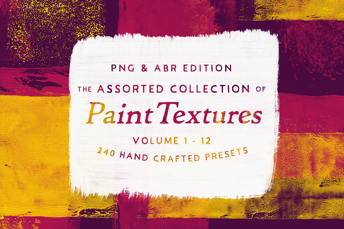 250+ High Quality Real Paint Textures and PS Brushes from Inspiration Hut – only $24!