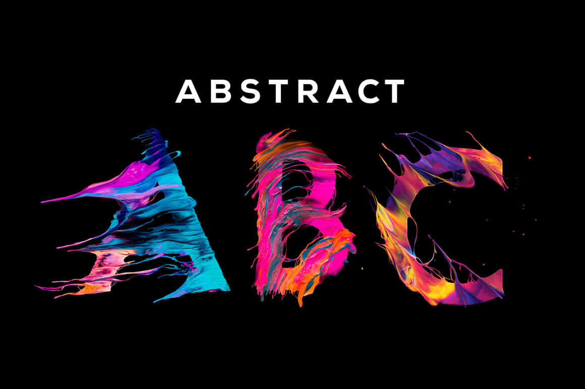 Abstract ABC: Unique Painted Letters with Transparent Backgrounds – only $9