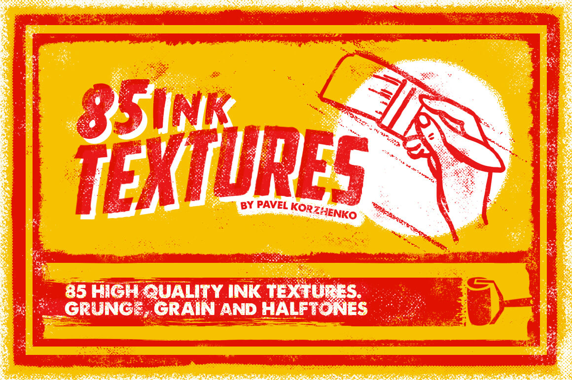 85 High-Quality Ink Textures from Vintage Voyage Design – only $5!
