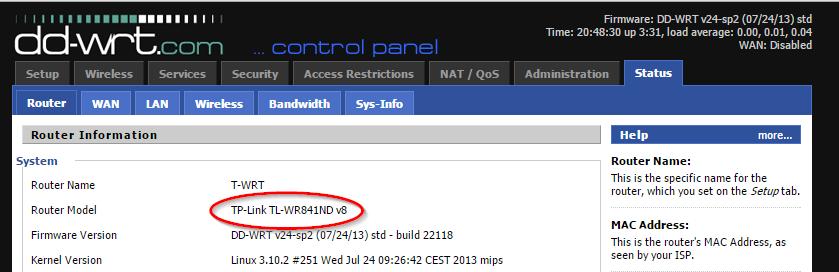 DD-WRT TP-LINK WA830RE Firmware WR841ND Success