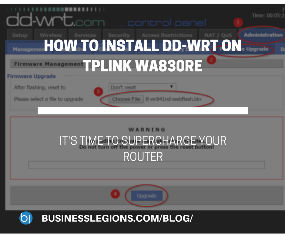 HOW TO INSTALL DD-WRT ON TPLINK WA830RE
