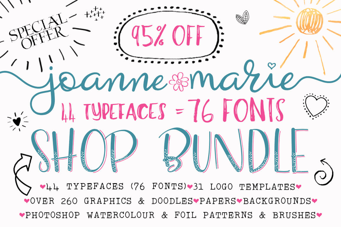 LAST DAY: 450+ Beautiful Design Elements by Joanne Marie – only $19!