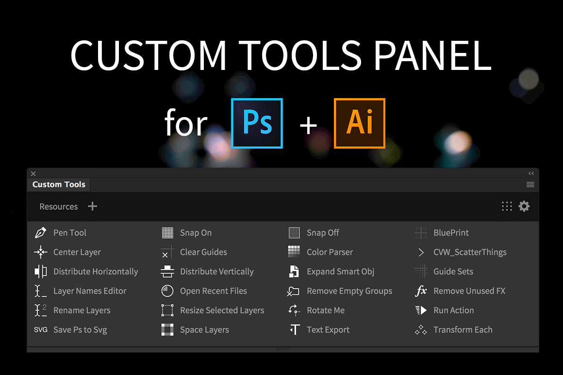 Build your own custom Photoshop and Illustrator panels – only $9!