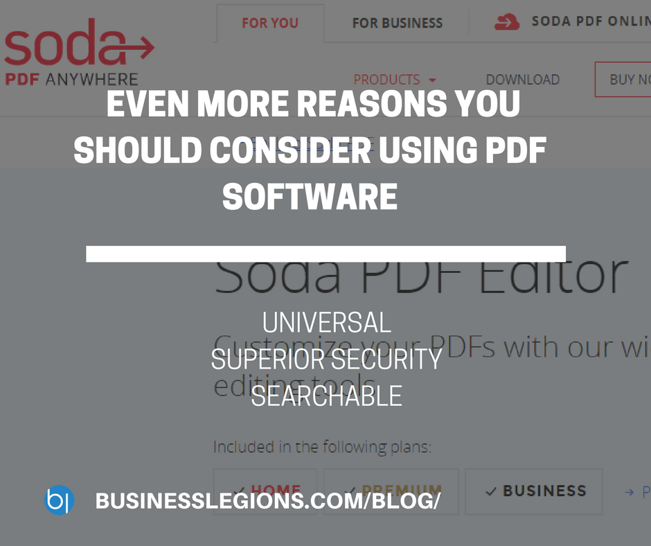 EVEN MORE REASONS YOU SHOULD CONSIDER USING PDF SOFTWARE