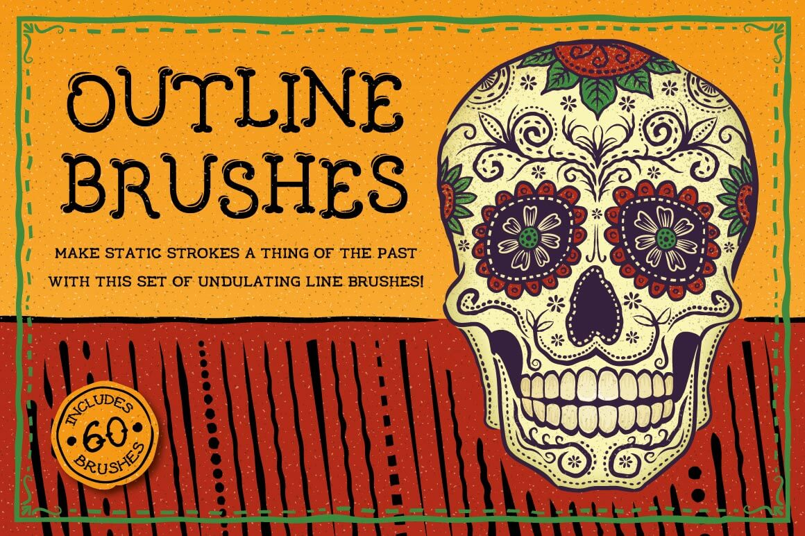 Exclusive Freebie: 60 Outline Brushes for Illustrator