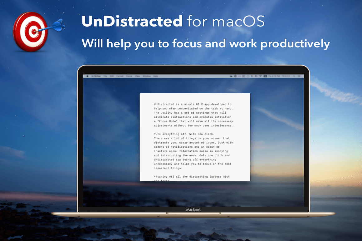 Increase Productivity with UnDistracted for Mac – only $5.99!