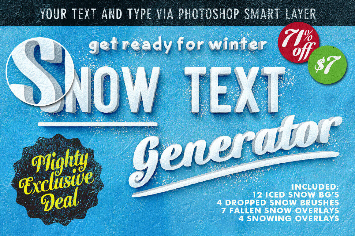 The Fantastic Snow Text Generator – only $7!