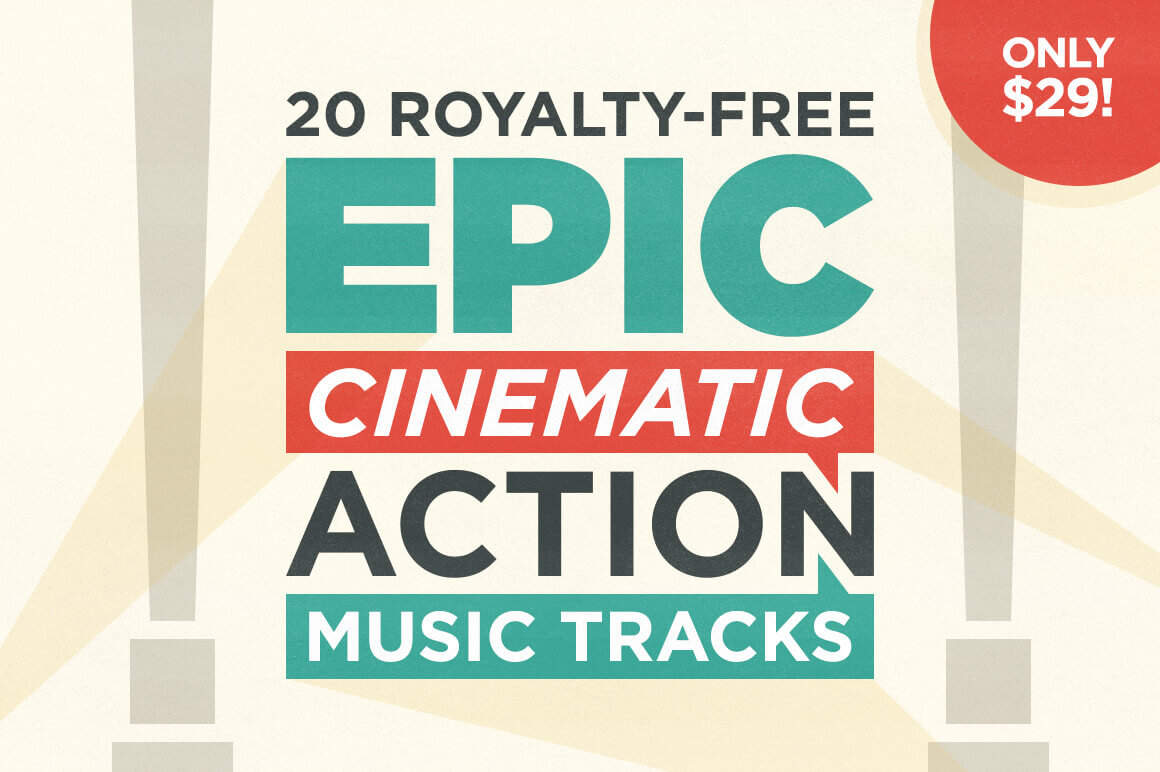 20 Royalty-Free Epic Cinematic Action Music Tracks – only $29!