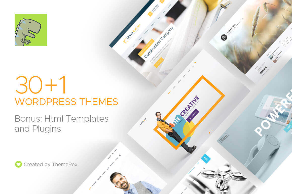 31 WordPress Themes + Bonus Elements from ThemeRex – only $27!