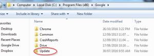 Business Legions - Chrome Updates Folder