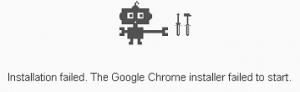 Business Legions - Chrome installer failed to start