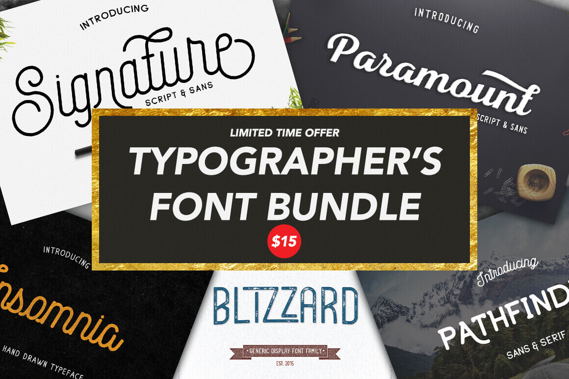 From Display to Script: The Typographer's Font Bundle - only $15!