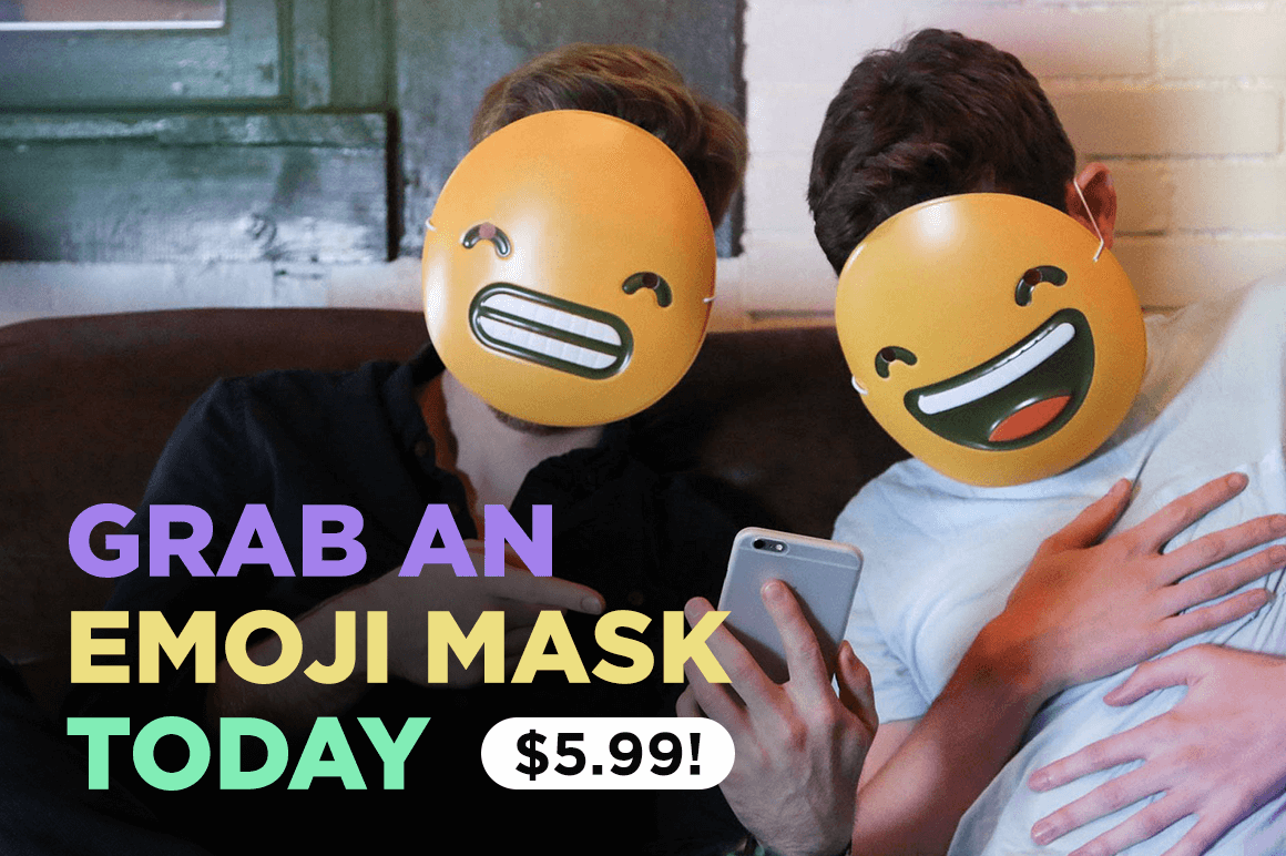 Grab an Emoji Mask Today (perfect for any party!) – only $5.99!