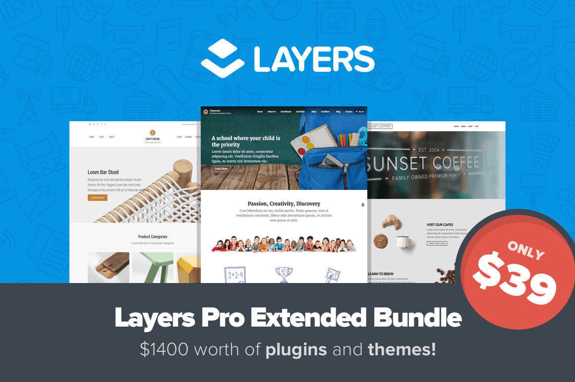 Layers Pro Bundle: 4 Powerful WordPress Tools & More – only $39!
