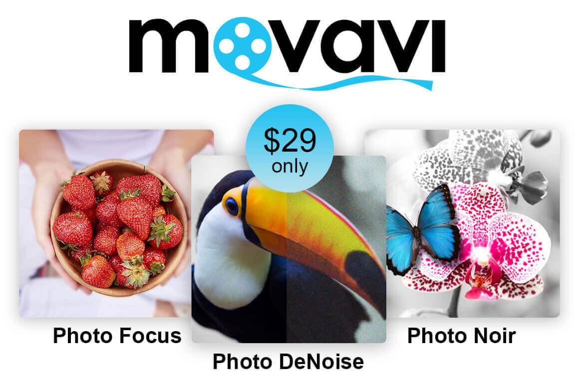 Movavi Photo Bundle: Photo Focus, Photo Denoise & Photo Noir – only $29!
