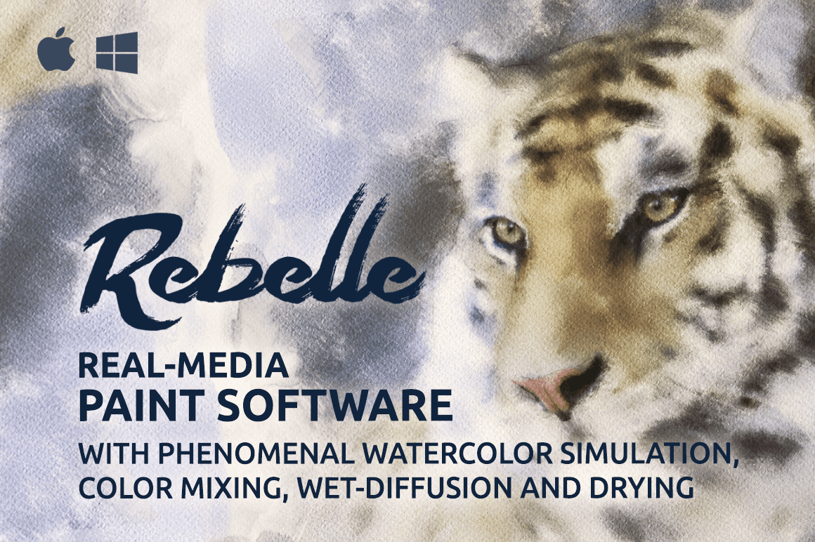 Rebelle Real-Media Watercolor and Acrylic Paint Software – only $29!