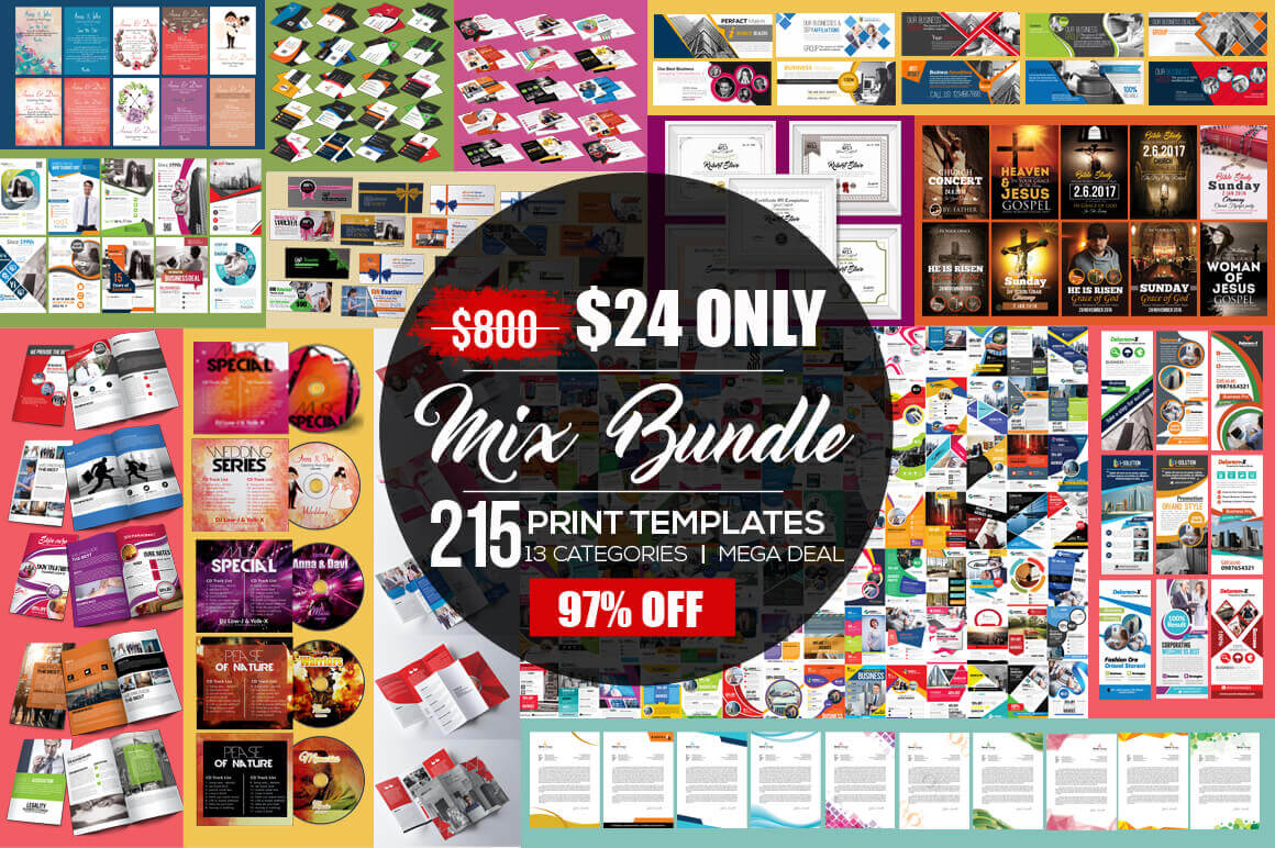 200+ Print-Ready Business Templates – only $24!