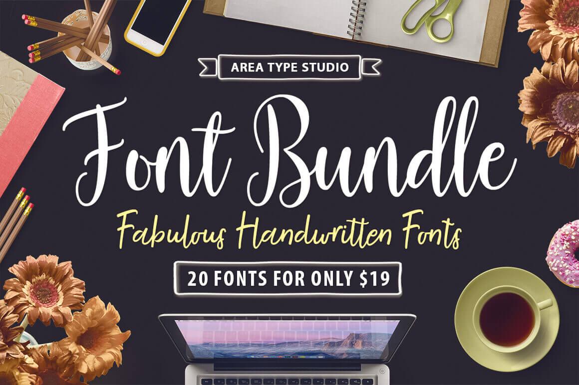 20 Fabulous Handwritten Fonts from Area Type Studio – only $19!