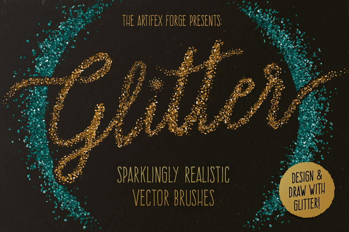 30 Sparkling Glitter Brushes from The Artifex Forge – only $7.50!