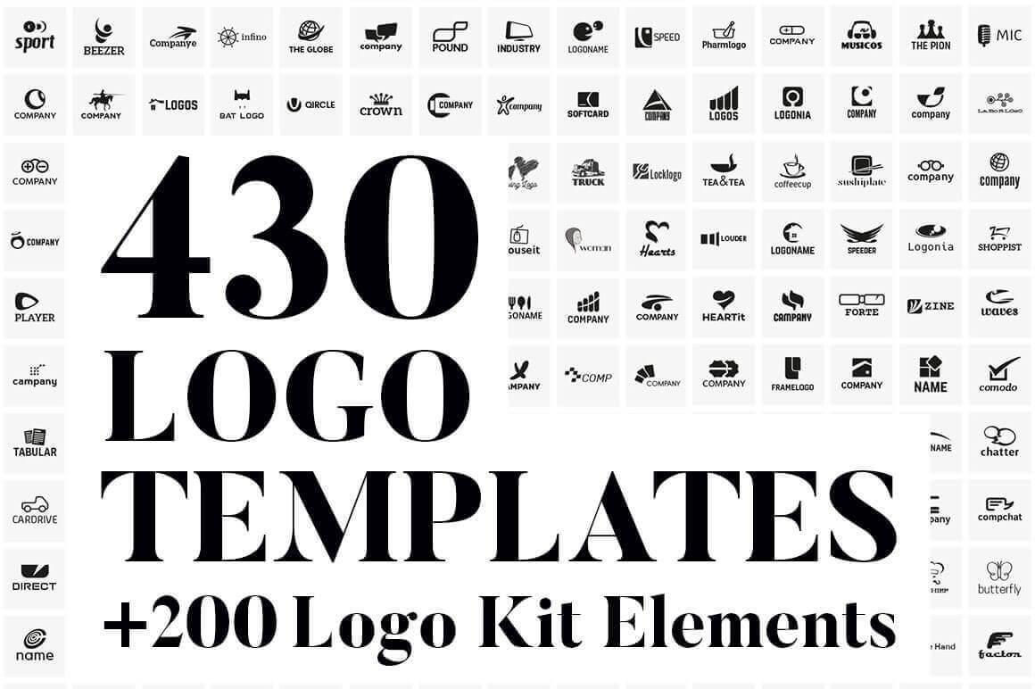 430 Vector Logo Design Templates & 200 Logo Kit Elements – only $17!