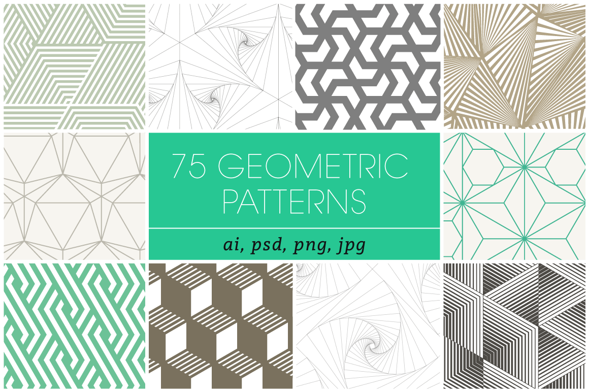 75 High-Quality Geometric Patterns from Kloroform – only $21