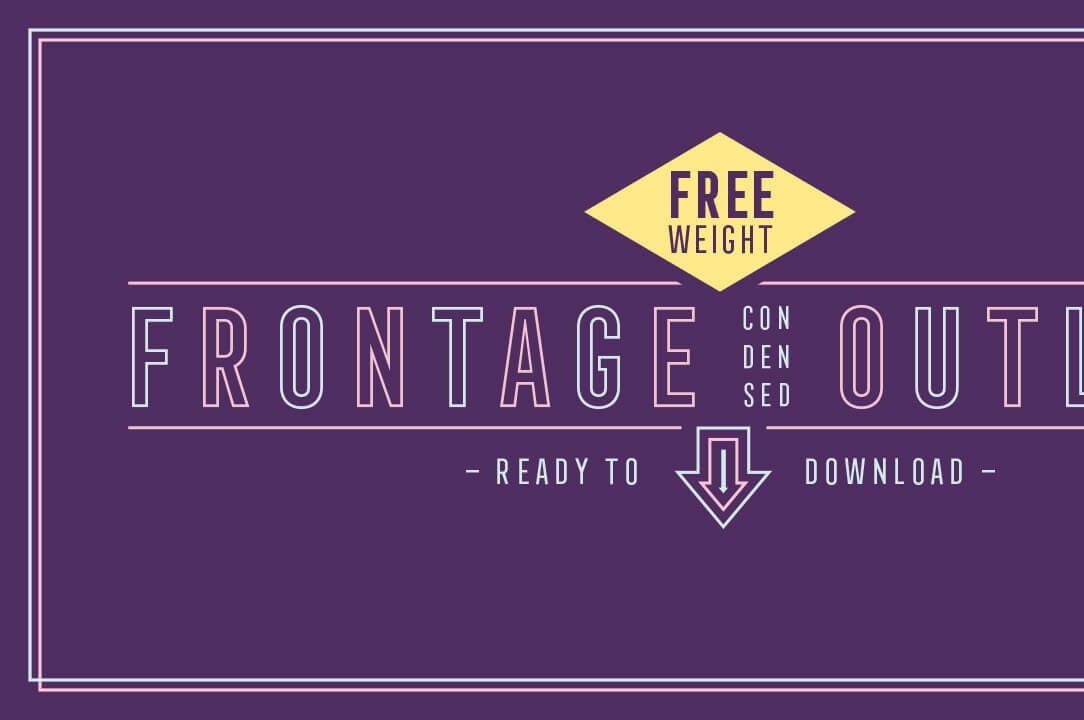 Free Download: Frontage Condensed Outline