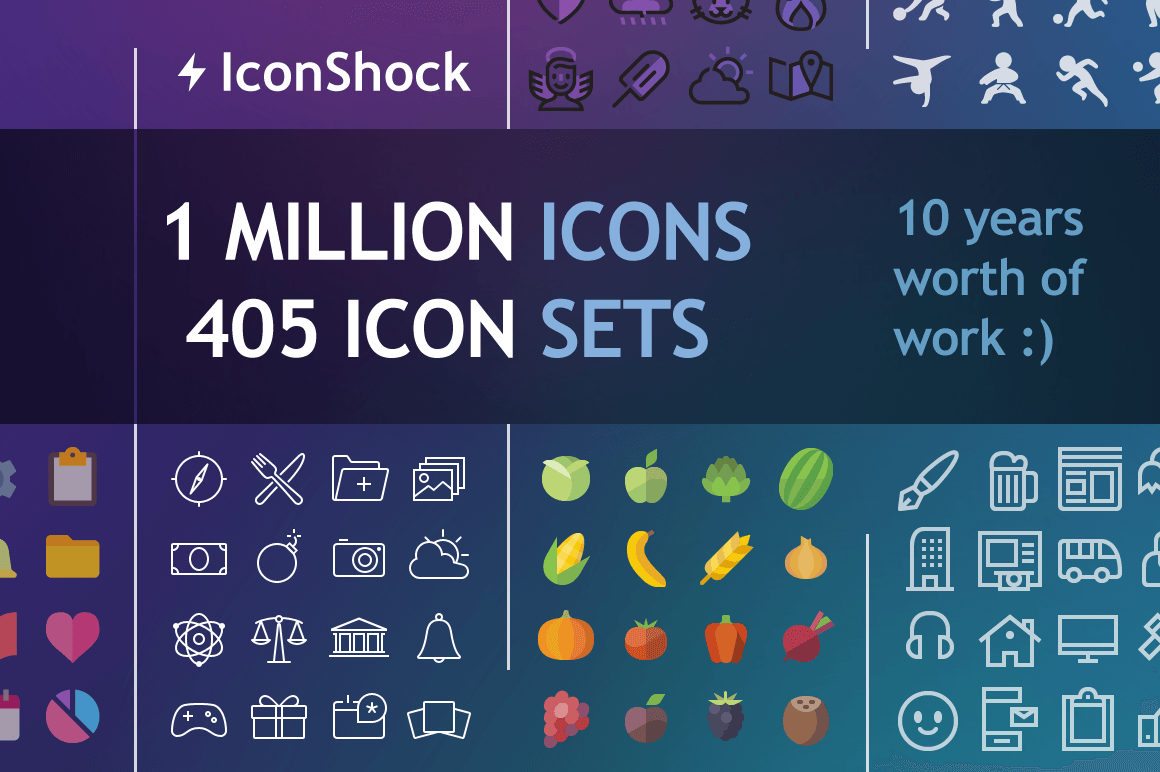 More Than 1 Million Icons in the Iconshock Complete Icon Pack – $37!
