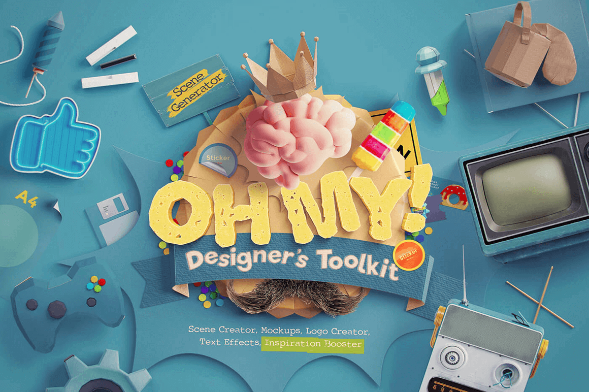 OhMy! Designer's Toolkit: Easily Build Creative Scenes in Photoshop – only $14!