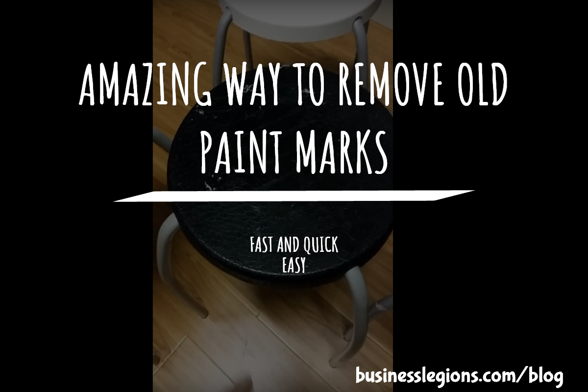 AMAZING WAY TO REMOVE OLD PAINT MARKS