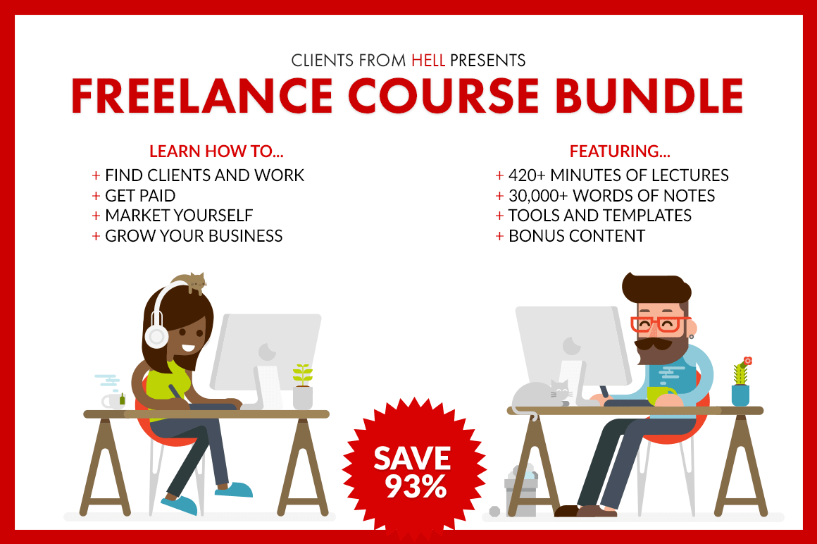 Course Bundle: Clients From Hell's Complete Guide to Freelancing – only $39!