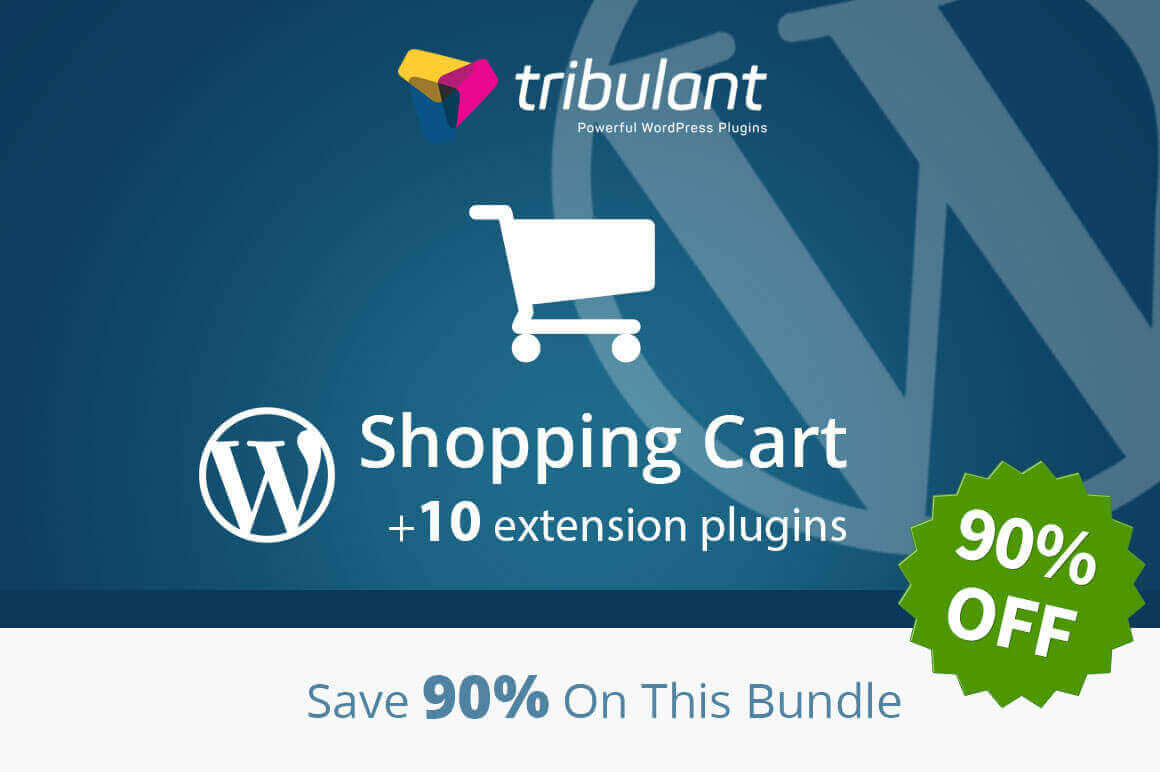 Easily Build a WordPress Shopping Cart + 10 Extension Plugins – only $24!