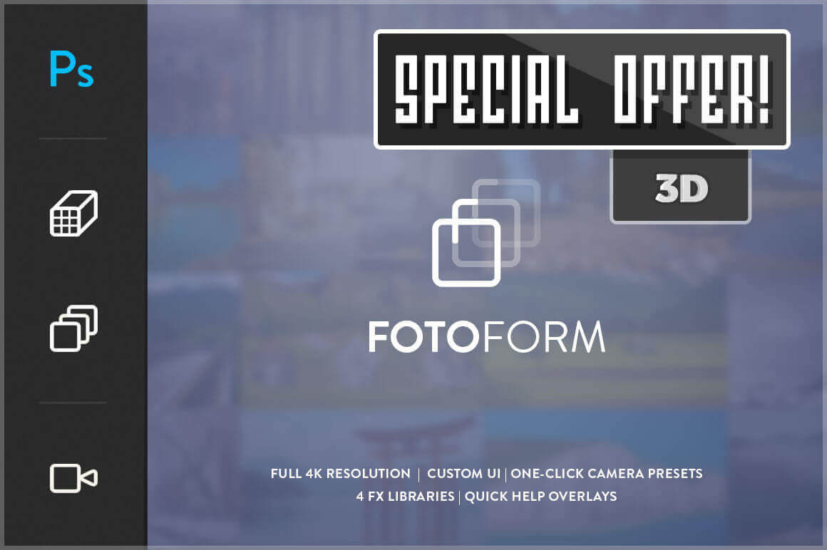 FotoForm: The World's First Geometric 3D Photo Animator – only $17!