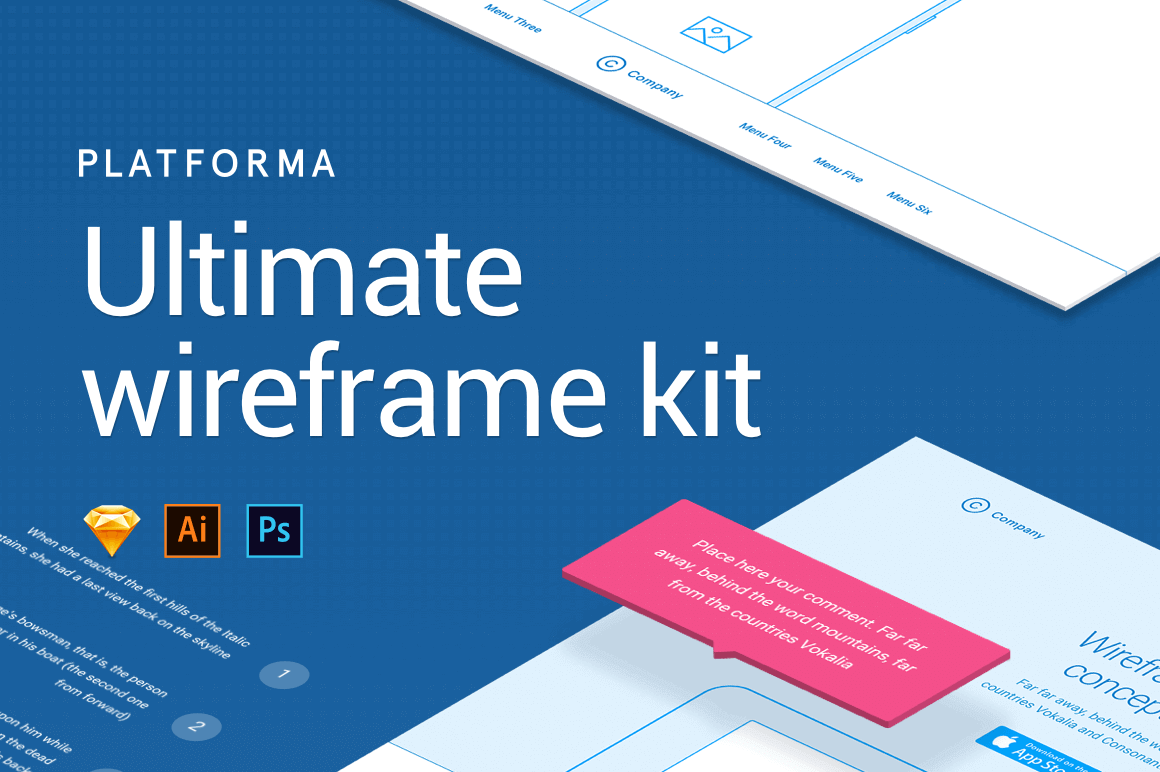 Platforma Wireframe Kit of 200+ Components - only $19!
