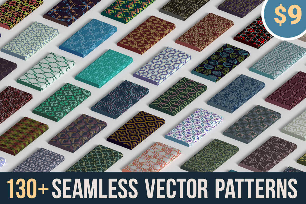 130+ Seamless Vector Patterns from Patternous – only $9!