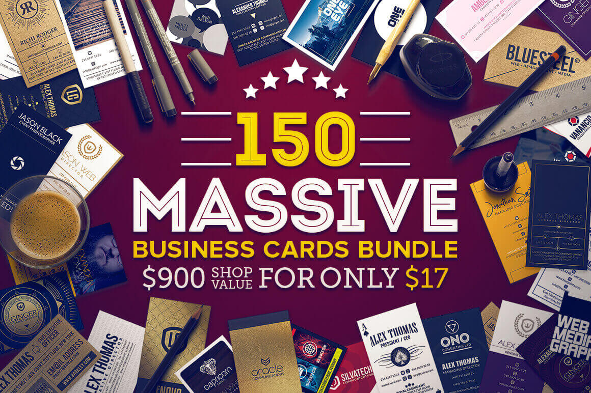 150 Massive Business Cards Bundle from Marvel Media – only $17!
