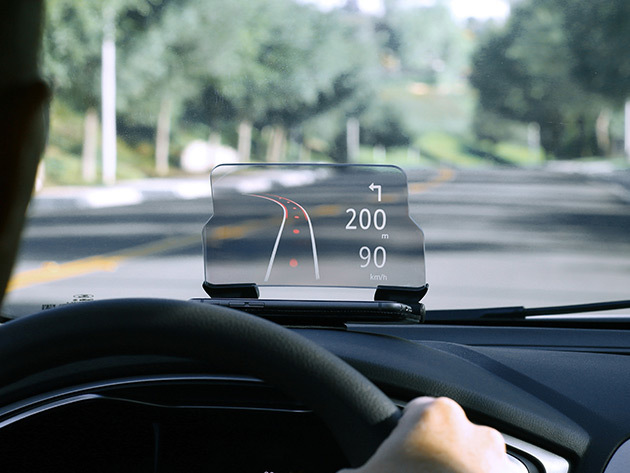 HUDWAY Glass Heads-Up Navigation Display for $49