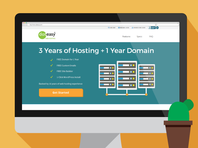 Doteasy Web Hosting: 3-Years Starter Hosting & 1 Year of Free Domain for $24